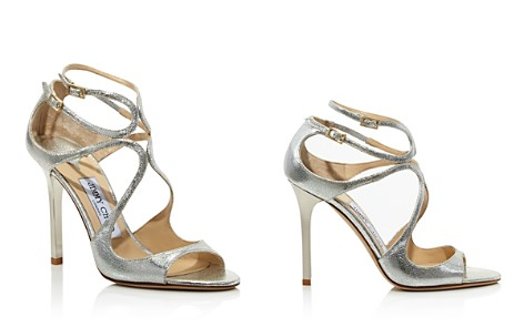 Jimmy Choo Women's Lang 100 Crackled Metallic Leather High Heel Sandals - Bloomingdale's_2